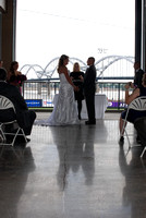Josh & April -The Modern Woodmen Baseball Park, Davenport, Iowa Wedding